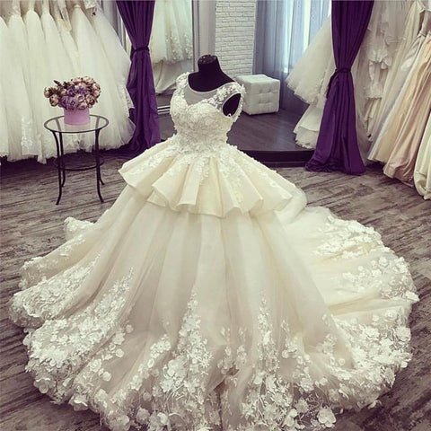 Image of Vintage-Wedding-Ball-Gowns-For-Bridal-2018-Luxurious