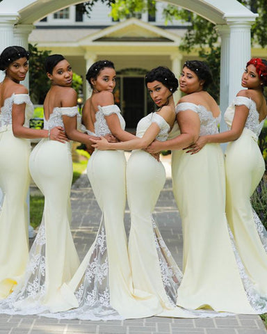 Image of Yellow-Bridesmaid-Dresses