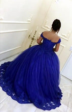 Load image into Gallery viewer, Wedding-Dresses-Royal-Blue