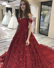Afbeelding in Gallery-weergave laden, Red-Wedding-Dresses-Ball-Gowns