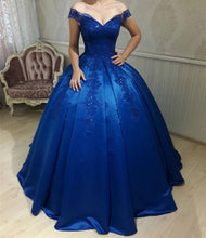 Afbeelding in Gallery-weergave laden, royal-blue-ballgown-dress