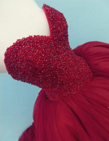 Image of Crystal Beaded Sweetheart Ball Gowns Wedding Dresses