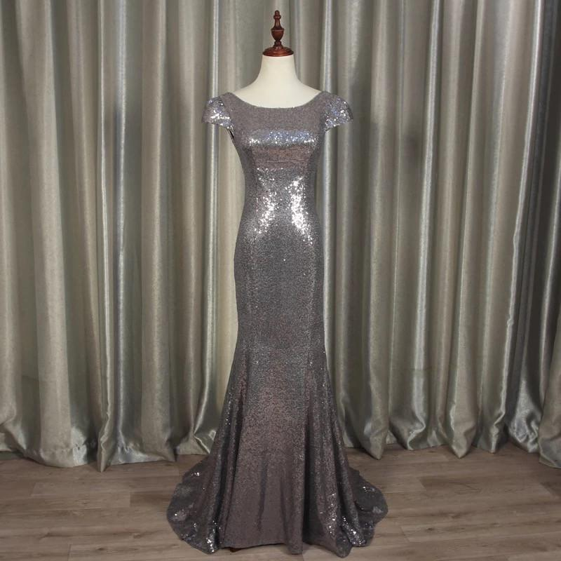 Modern Style Glitter Sequins Bridesmaid Dresses Mermaid Formal Gowns