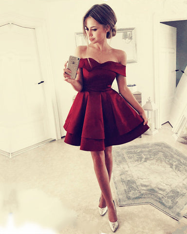 Burgundy-Homecoming-Dresses