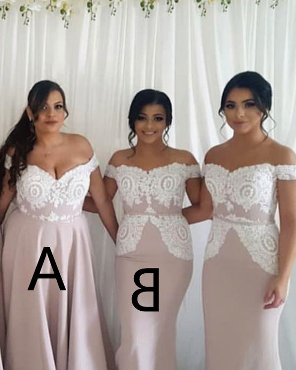 Bridesmaid-Dresses-Mixed-Style-Long-Maid-Of-The-Honor-Dresses