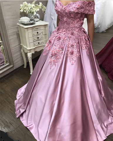 Image of baby-pink-prom-dresses