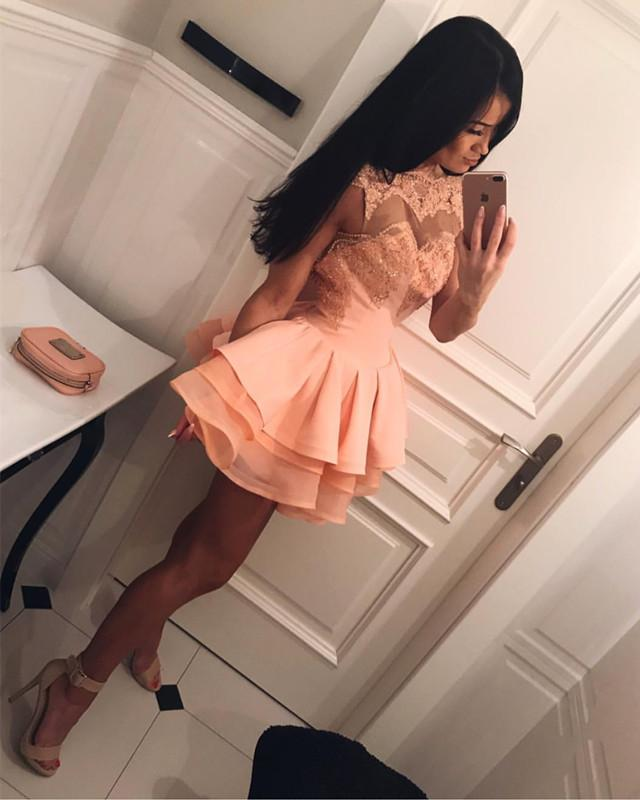 Short-Peach-Prom-Dresses-2018-Homecoming-Dresses