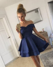 Load image into Gallery viewer, Navy-Blue-Homecoming-Dresses
