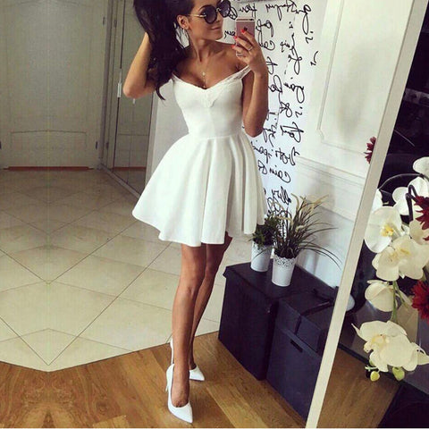 Image of white prom short dresses