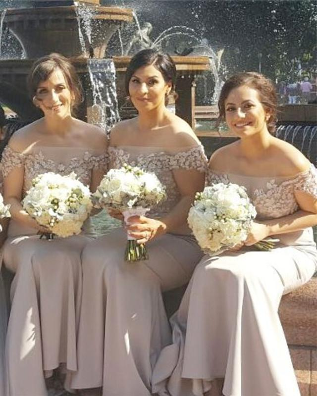 Summer-Bridesmaid-Dresses-Off-The-Shoulder-Mermaid-Formal-Gowns