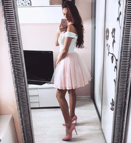 Image of tulle-prom-short-dresses