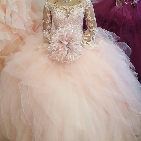 Image of pearl-pink-quinceanera-dresses