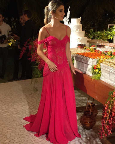 Image of Fuchsia-Mermaid-Prom-Dresses