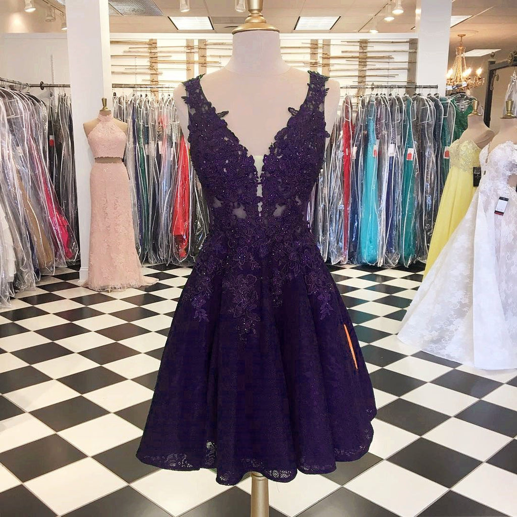 purple-lace-homecoming-dresses-for-8th-grade-prom-occasions