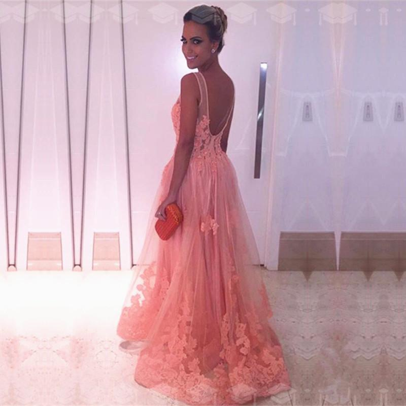 Coral-Pink-Prom-Dresses-2019-Lace-Appliques-Evening-Gowns