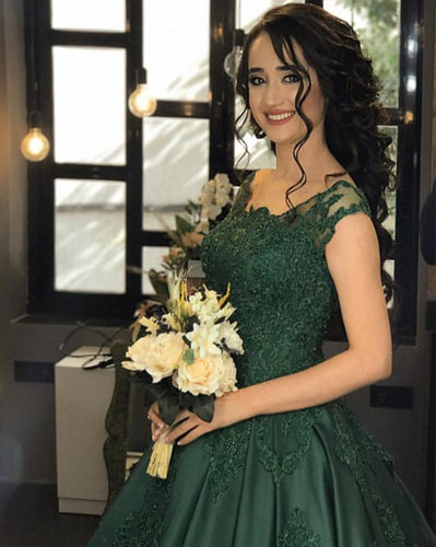 emerald green wedding dresses