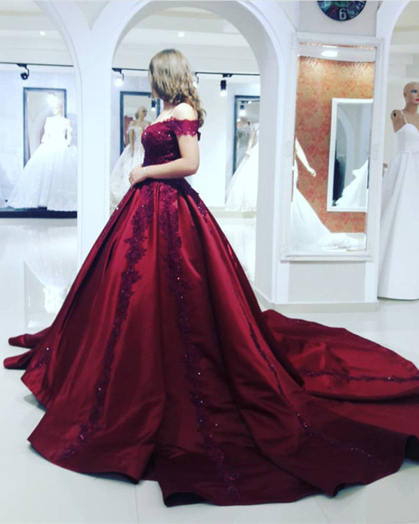 burgundy ball gowns dresses
