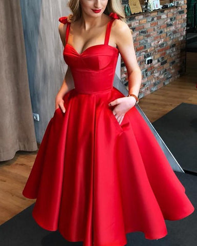 Image of Short-Red-Cocktail-Party-Dresses
