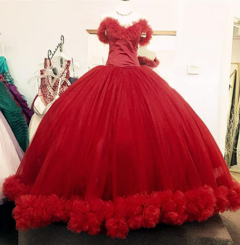 Image of burgundy-quinceanera-gowns