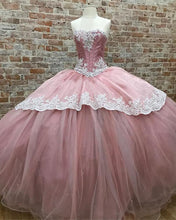 Load image into Gallery viewer, Dust-Pink-Sweetheart-Ball-Gowns-Quinceanera-Dresses