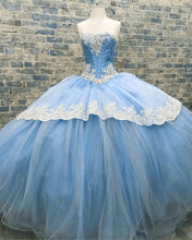 Load image into Gallery viewer, Baby-Blue-Quinceanera-Dresses-Ball-Gowns-Sweet-16-Prom-Dress