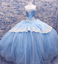 Load image into Gallery viewer, Light-Blue-Quinceanera-Dresses-For-Sweet-Sixteen