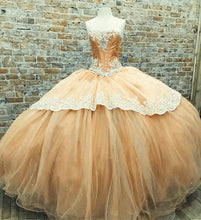 Load image into Gallery viewer, Chamapgne-Quinceanera-Dresses-Ball-Gowns-Sweet-15-Dress