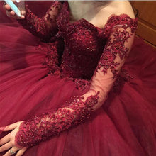 Load image into Gallery viewer, maroon-quinceanera-dress