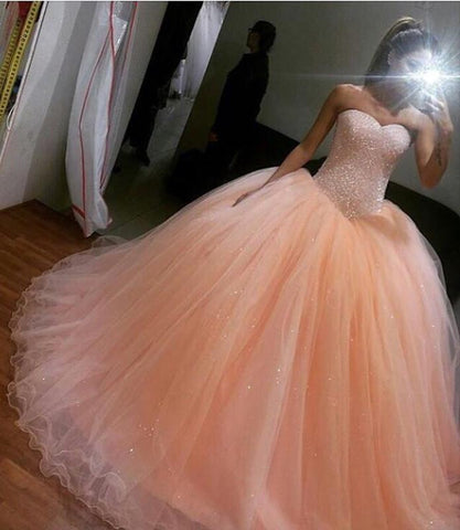 Image of peach-wedding-gowns