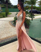 Afbeelding in Gallery-weergave laden, pearl-pink-prom-dresses