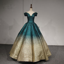 Afbeelding in Gallery-weergave laden, V-neck Off The Shoulder Sequins Ball Gowns Quinceanera Dresses