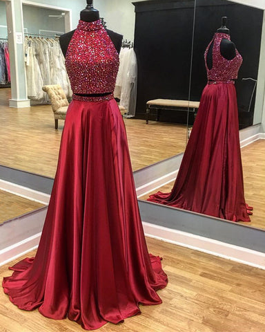 Image of two piece prom dresses