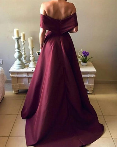 Image of satin prom dresses