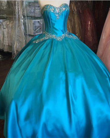 Image of turquoise blue quinceanera dresses