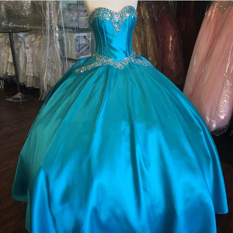 Image of ice blue quinceanera dresses