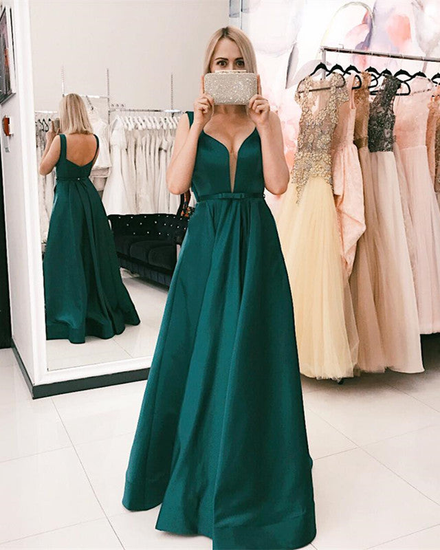 Dark-Green-Evening-Dresses