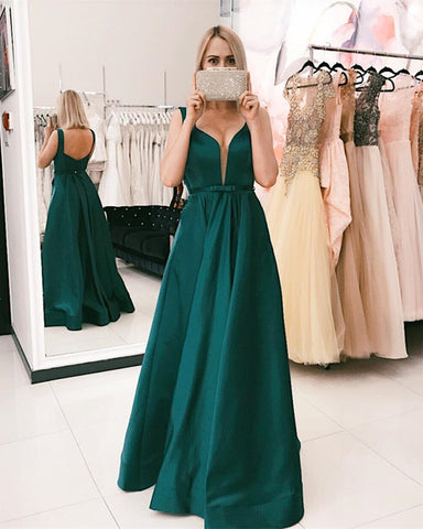 Image of Dark-Green-Evening-Dresses