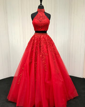 Load image into Gallery viewer, Red-Ballgowns-Prom-Dresses