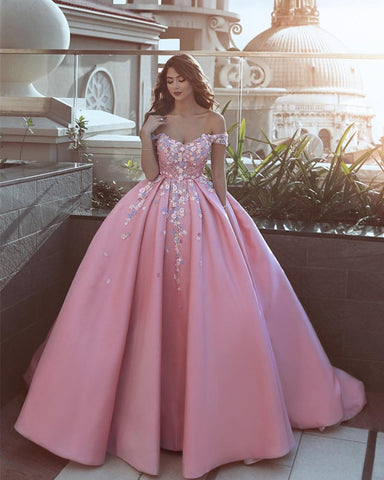 Image of pink prom dresses