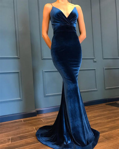 Image of navy blue prom dresses