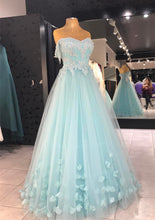 Load image into Gallery viewer, light blue evening gowns