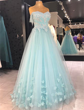 Load image into Gallery viewer, baby blue prom dresses