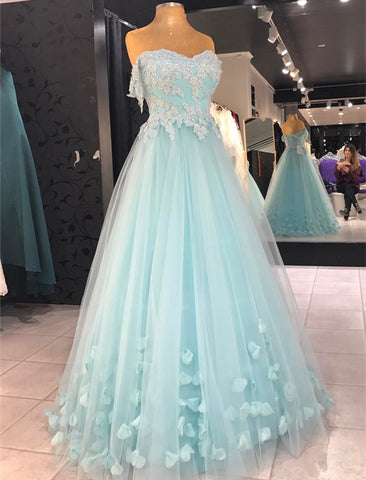 Image of baby blue prom dresses