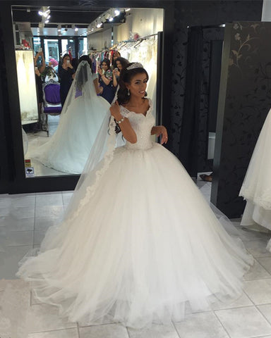 Image of Tulle-Wedding-Dresses