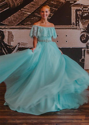 Image of aqua-blue-prom-dress
