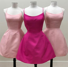 Load image into Gallery viewer, Short-Pink-Homecoming-Dresses-Blush-Cocktail-Dress