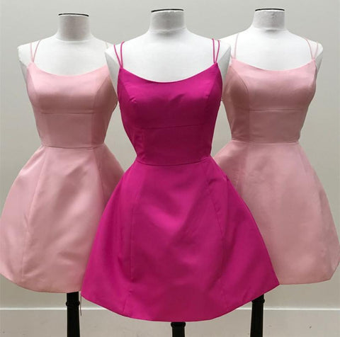 Image of Short-Pink-Homecoming-Dresses-Blush-Cocktail-Dress