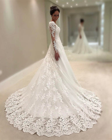 Image of Vintage-Lace-Wedding-Gowns