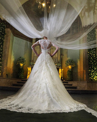 Image of Long-Sleeves-Bridal-Gowns