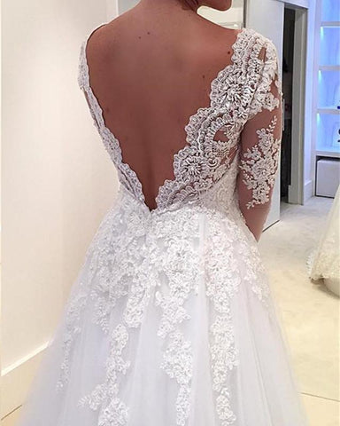 Image of Open-Back-Wedding-Dresses